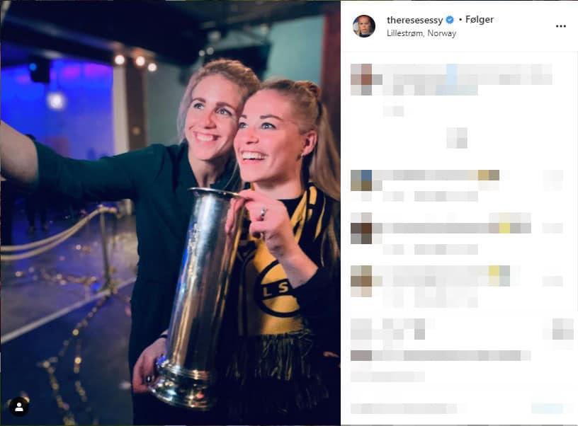 Therese feirer cupgull for LSK Kvinner